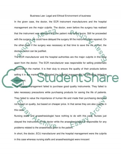 Case Problem essay example