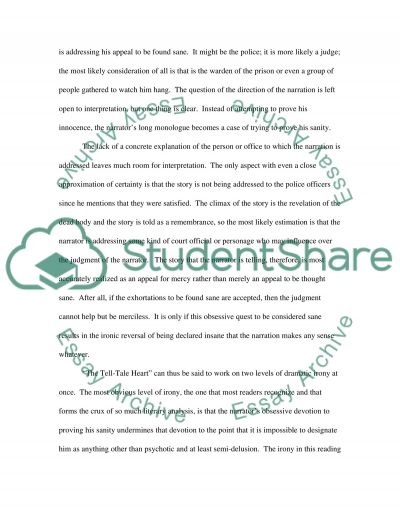 The Tell Tale Heart essay example