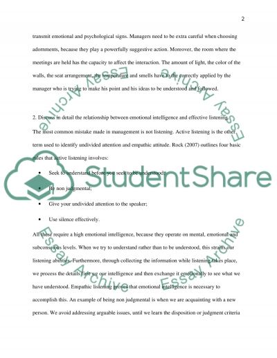 Communication in Management essay example