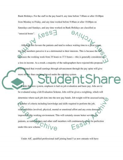 Agenda for Change essay example