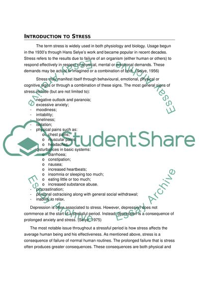 Stress Management Research Paper Example  Topics And Well  What Is A Response To Literature Essay Sample Of An Essay Paper Stress Management Research Paper Example  Topics And Well  Sample Essays For High School Students also Essay Writing Examples English
