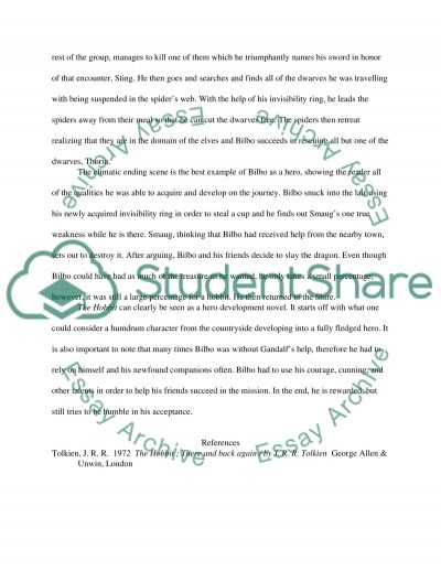 is bilbo baggins a hero essay Free coursework on the hobbit from essayukcom,  bilbo's journey before bilbo baggins meets  there are many obstacles that block bilbo from completing.
