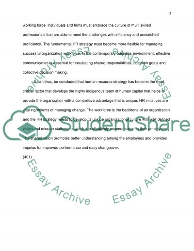 HRM Innovation and Change essay example