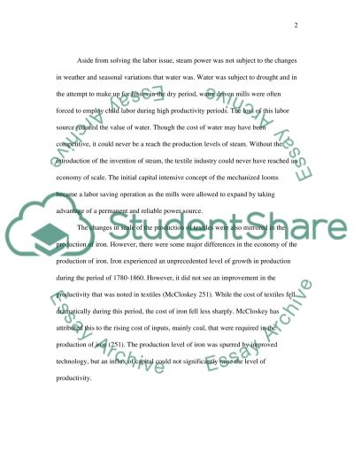 The Technological Stimulus of the Industrial Revolution essay example