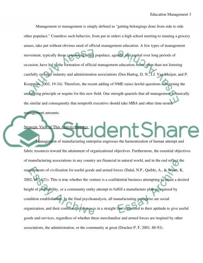 Education Management essay example