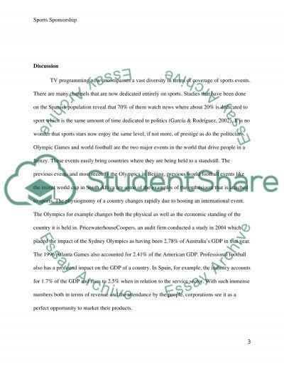 Sports Sponsorship Paper essay example