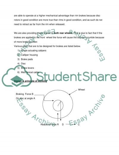Recumbent tricycle brake essay example