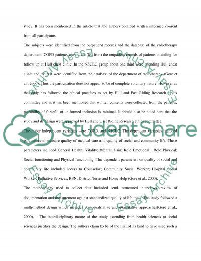 CRITICAL APPRAISAL OF A NURSING QUANTITATIVE STUDY essay example