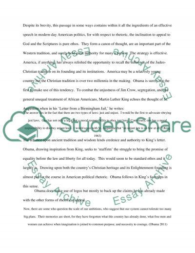 critique of a political speech of barack obama essay  barack obama essay example text preview
