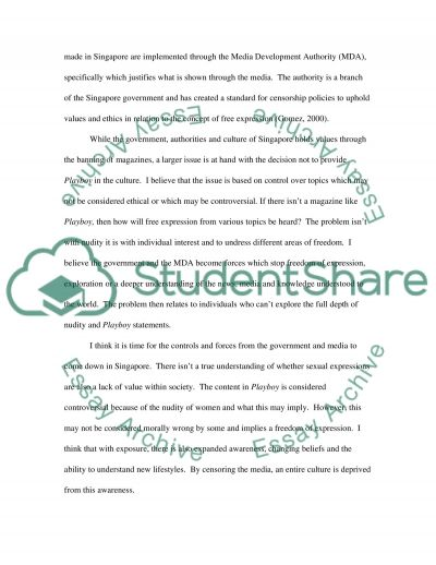 Playboy Approaching Singapore essay example