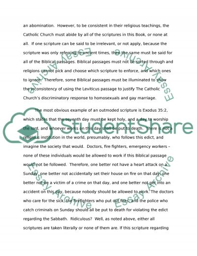 Are the Beliefs and Traditions of the Catholic Church Outdated for Todays Culture and Society essay example