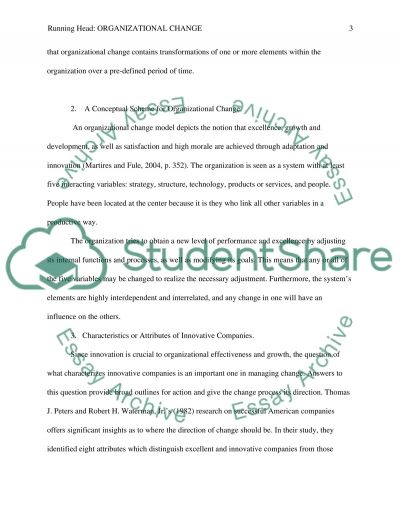 organizational change essay example topics and well written  organizational change essay example text preview