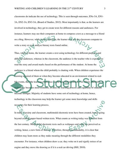 Writing and childrens learning in the 21st century