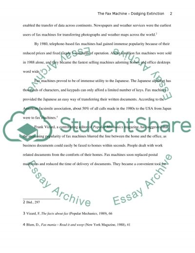 The Fax Machine essay example