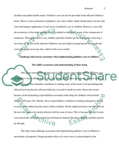 Care Of Sick Children Essay Example  Topics And Well Written Essays  Care Of Sick Children