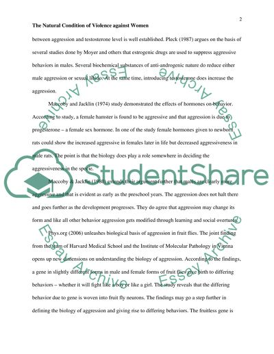 Sample Of Proposal Essay The Natural Condition Of Violence Against Women  Essay Example English Essay Internet also Where Is A Thesis Statement In An Essay The Natural Condition Of Violence Against Women Essay How To Write A Thesis For A Narrative Essay