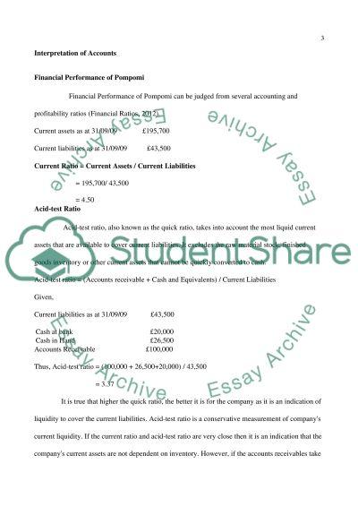 Interpretation of Accounts essay example