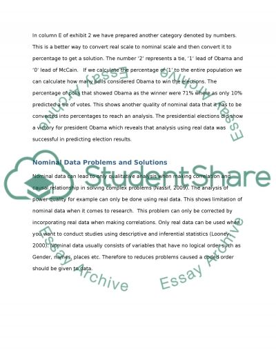Real Data essay example
