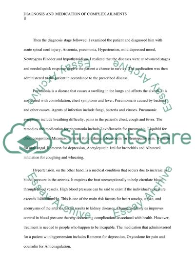 Diagnoses, Medication and Treatment of a Patient with Complex Ailments essay example