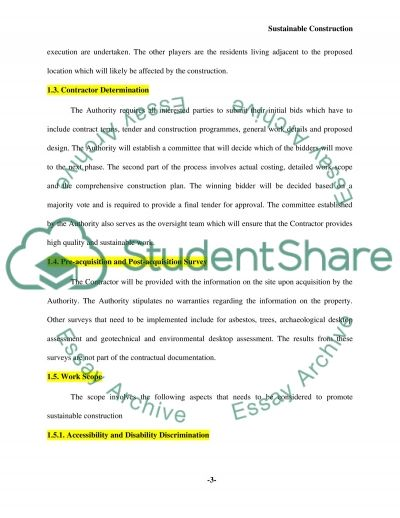 Environmental impact & modern methods of construction Essay example