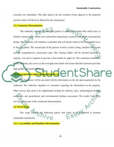 Environmental impact & modern methods of construction essay example