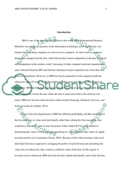 EVA Analysis essay example