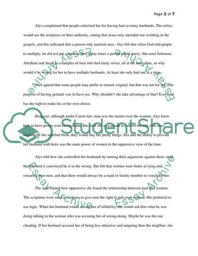the knight canterbury tales essay