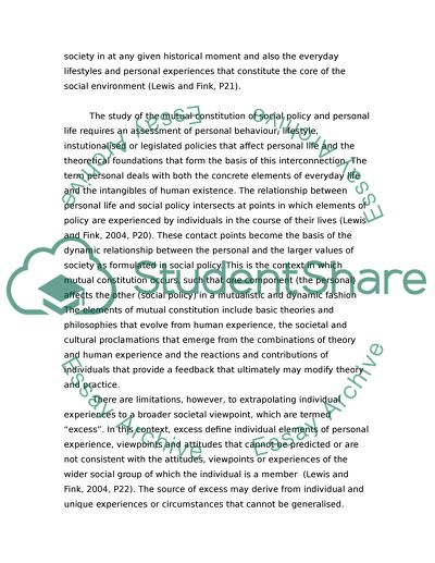 essays on social policy topics