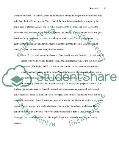 Ethanol Alcohol essay example