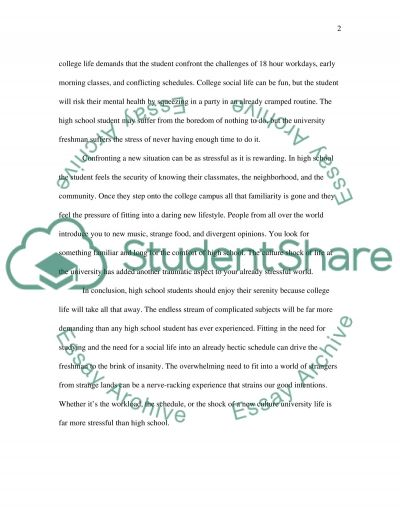 College and School Life essay example