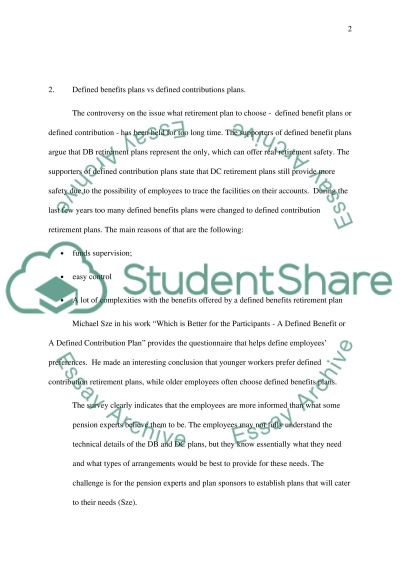 Benefit Compensation Essays essay example