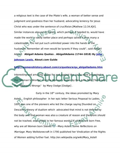 Women Suffrage essay example