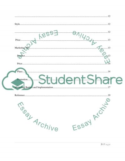 Sustainable Marketing Plan essay example