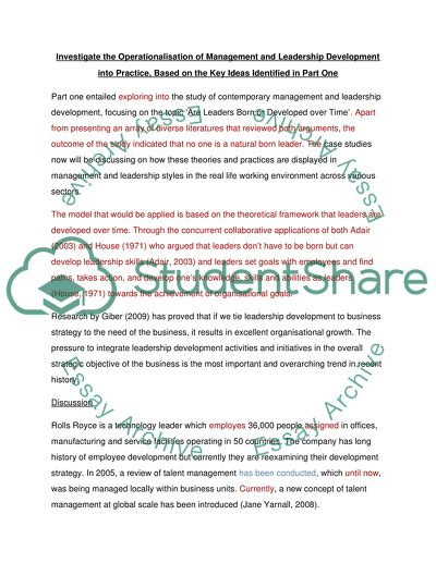 High School Scholarship Essay Examples  Compare And Contrast Essay High School And College also Apa Format For Essay Paper Management And Leadership Development Are Leaders Born Or  Thesis Examples For Argumentative Essays