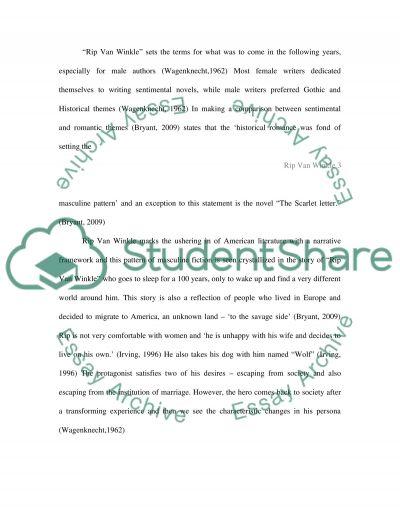 Rip Van Winkle essay example