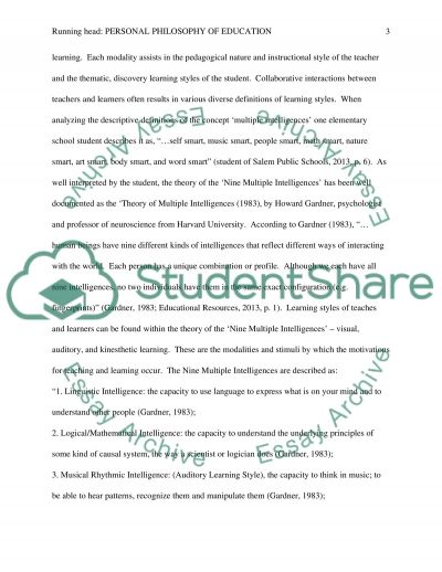 The Concept of Multiple Intelligences and Diverse Learning Styles. Experiential Learning: Cognitive and Behavioral Learning essay example