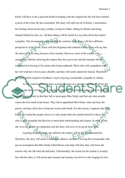 love in the short story a rose for emily by william faulkner This is a unit for the short story a rose for emily by william faulkner which is a southern gothic short story i've used this story numerous times with my.