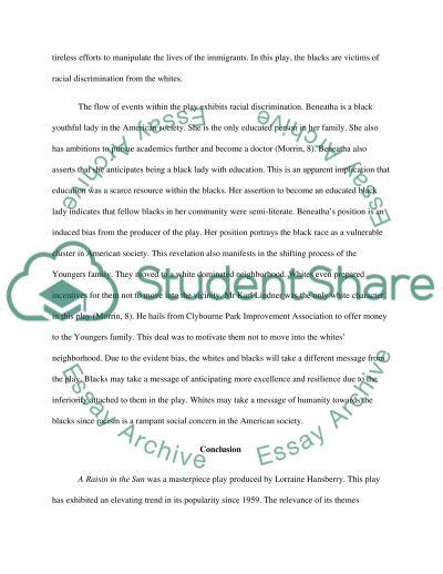 A raisin in the sun essay topics