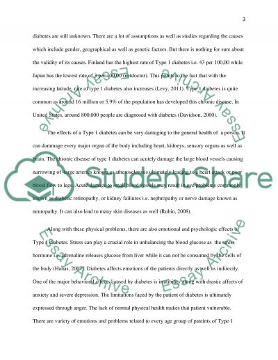 Type 1 Diabetes essay example