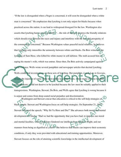 Ida b wells essay