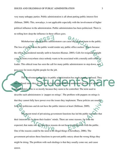 what is public administration essay