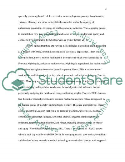 Health Promotion in Nursing essay example