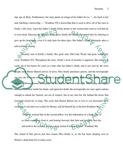 Thesis Statement Examples For Persuasive Essays A Rose For Emily By William Faulkner Essay Business Plan Essay also How To Write A Good English Essay A Rose For Emily By William Faulkner Essay Example  Topics And Well  How To Write A Good English Essay