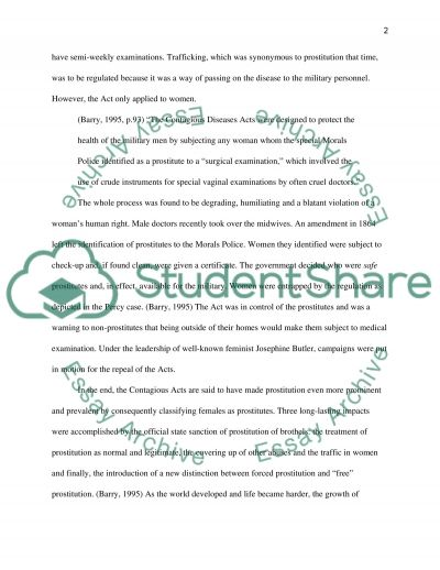 Trafficking Paper Final essay example