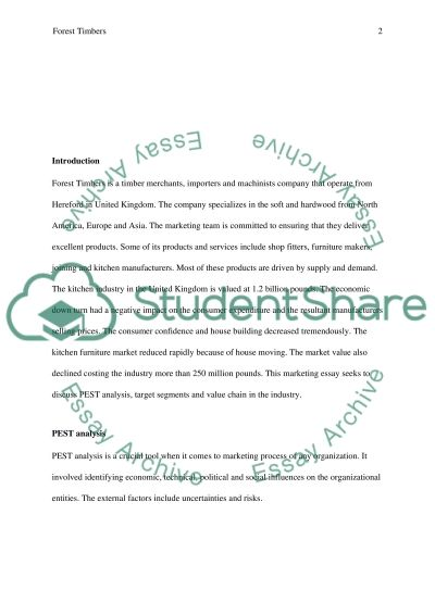 Marketing case study essay example