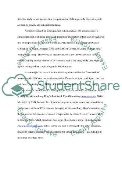 Television and Media essay example