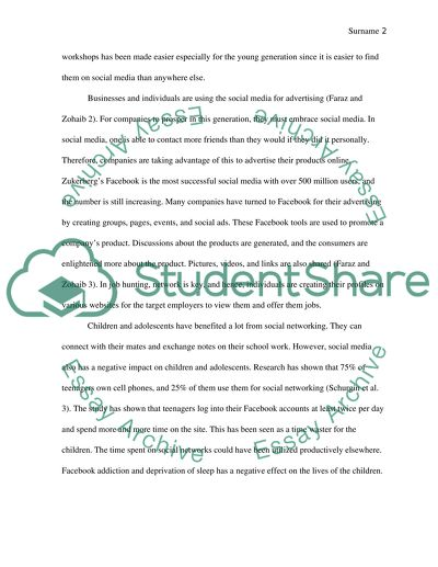 Expository Essay: Social Media and its impact Worldwide