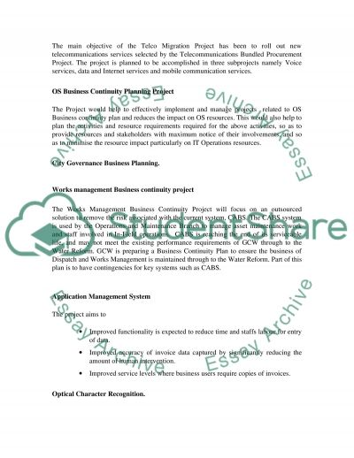 IT Projects essay example
