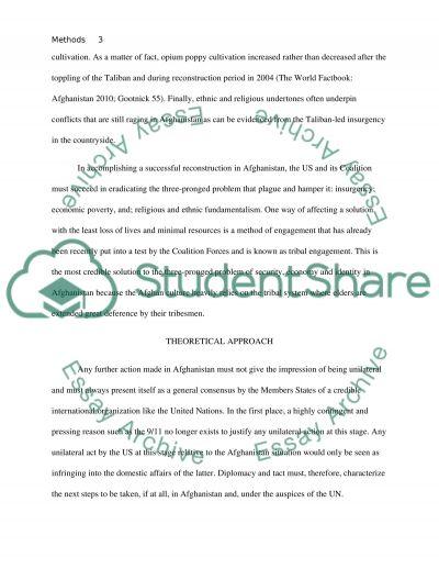 Methods of Engagement in Afghanistan essay example