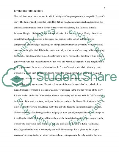 little red riding hood a comparison of two versions essay little red riding hood a comparison of two versions essay example
